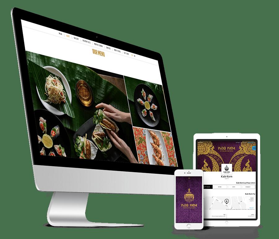 בניית אתר OnePage מדהים למסעדת קאב קם מבית בית תאילנדי